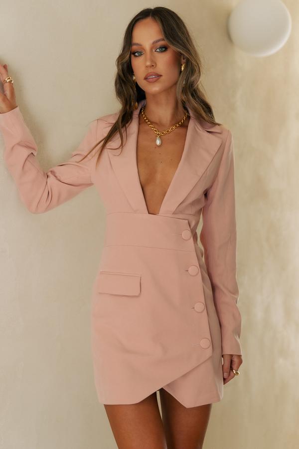 BALIA BLAZER DRESS - PINK